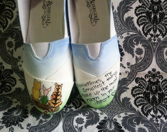 Hand Painted Classic Winnie the Pooh Shoes