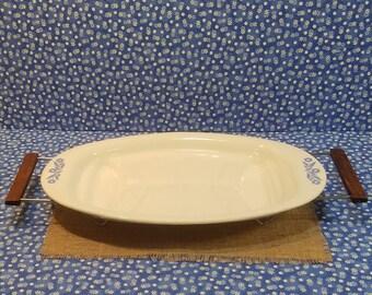 Corningware Meat Platter, Cornflower Blue, Mid Century Corningware