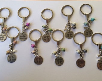 Love you lots like Jelly Tots keyring, Birthday keyring, Gift for her, Stardust bead keyring, Special keyring, Keyring gift,