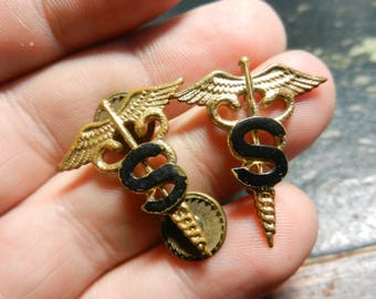 Vintage WW2 US Medical Sanitary Officers Insignia