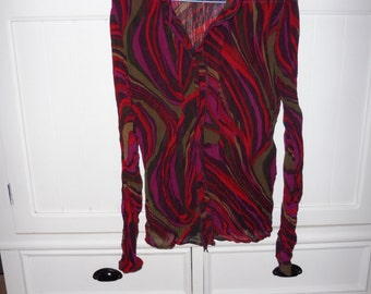 In cotton and silk blouse size 38 EN - 1990s