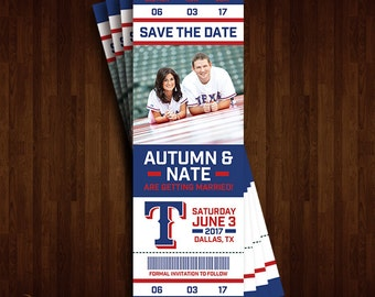 Texas Rangers Save the Date Ticket