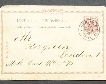 Vintage Unusual German postcard 1893