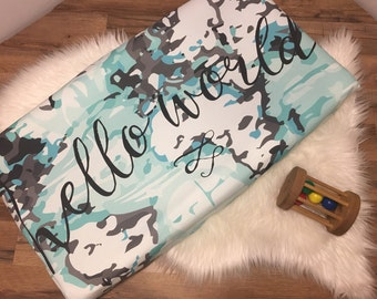 Custom Baby Bedding// World Traveller Collection// Changing Pad Cover