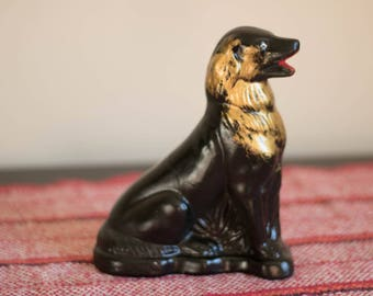 Vintage Sheep Dog Statue