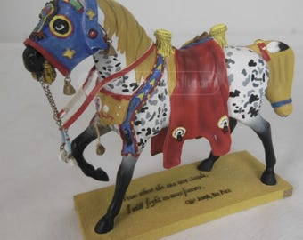 """Trail of Painted Ponies """"Runs the Bitterroot"""" War Pony Figurine Second Edition Artist Kevin Kilhoffer (Retired December 2009)"""