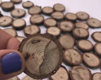 Wood Tree slices - Set of 50
