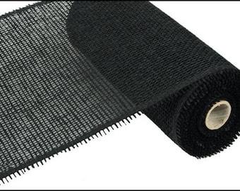 "10""X10yd Black Woven Paper Mesh/Wreath Supplies/Paper Mesh/RR800102"