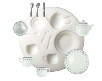Mould in silicone tableware Creations Fimo