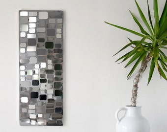 Wall sculpture - MOSAIC - stainless steel