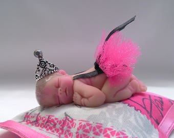"Polymer Clay Babies ""Little Ballerina"" BABY SIZE 2.5"" Gift, Collectible, Keepsake, Cake Topper"
