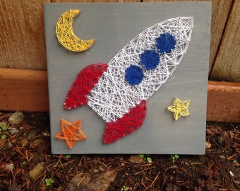 Made to order outer space rocketship string art for What is outer space made of
