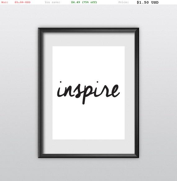 75% off Wall Decor Inspirational Art Inspire Motivational Quote Home Decor Inspirational Print (T90)