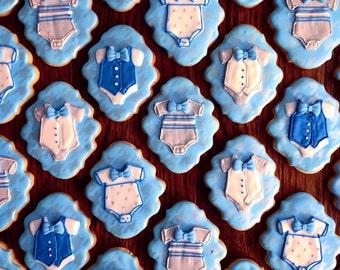 Baby Boy Shower Custom Cookies Favors