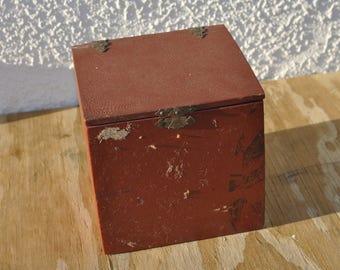 Vintage Aqua Compass And Box