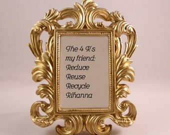 Custom Broad City Framed Quote 4 R's Rihanna home decor gift office desk decor ornate frame funny quote inspirational quote funny gift