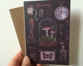 Curiosities blank greeting card - antiques