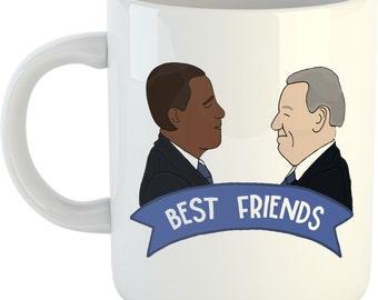 Obama and Biden Best Friends 11oz coffee mug