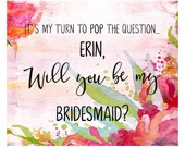 "Reserved for Carly - Bridesmaid Proposal Puzzle, 7.5"" x 9.5"", 30 PC Puzzle, Wedding Party Puzzle, Flower Girl Proposal, Maid of Honor Propos"