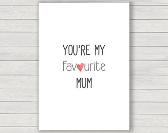 mum Card, mothers day card, humorous card