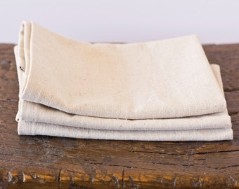 Hemp & Organic Cotton Napkins – Eco-friendly Table Linen - Various Colors