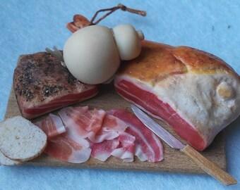 Ham and cheese platter