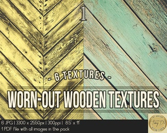 Worn-out dark wood textures | 8.5x11 Printable Digital Papers | Set of 6 Textured Scrapbook Papers | Digital scrapbook Photo Paper overlays