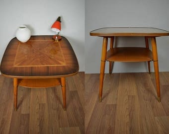 Vintage kidney table, side table, coffee table | root wood | 50s | Germany