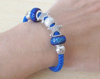 Sea Bracelet for woman, made in crochet in pure cotton.