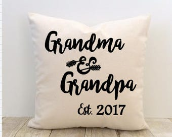 Grandma and Grandpa Pillow Cover, Mother's Day Pillow Cover