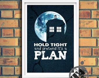 It's A Plan - Doctor Who Inspired Tardis Digital Fan Art
