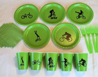 BMX Bike Tableware Set for 5 People