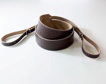 Camera Strap, Leather Camera Strap, Personalized Camera Strap, Brown Leather Camera Strap