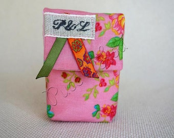 case pink floral handkerchief