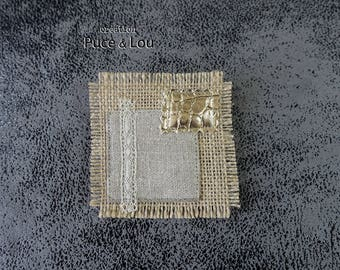 "PIN square gold ""like a picture"""