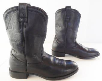 Ariat Black  women roper pecos  western cowboy boots size 8  B