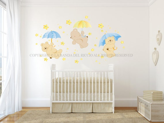 Adesivi murali bambini adesivi murali cameretta con stelline - Adesivi bambini cameretta ...