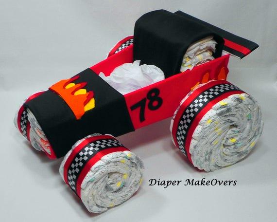 Race Car Diaper Cake Diaper Cake Car Diaper Cake Baby