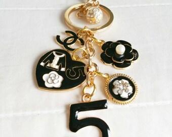 Chanel Inspired Keychain