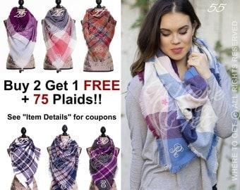 Plaid Blanket Scarf, Blanket Scarf, Tartan Plaid Scarf, Tartan Scarf, Blanket Scarf, Oversized ...