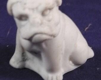 "rare antique german porcelain  miniature figure, Bulldog, Germany ,1.0"" x 1.1"""
