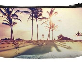 Venice Beach Palm Trees Small Makeup Bag