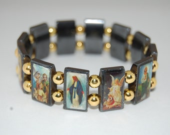 catholic saints bracelet catholic saints altered charm bracelet 6029