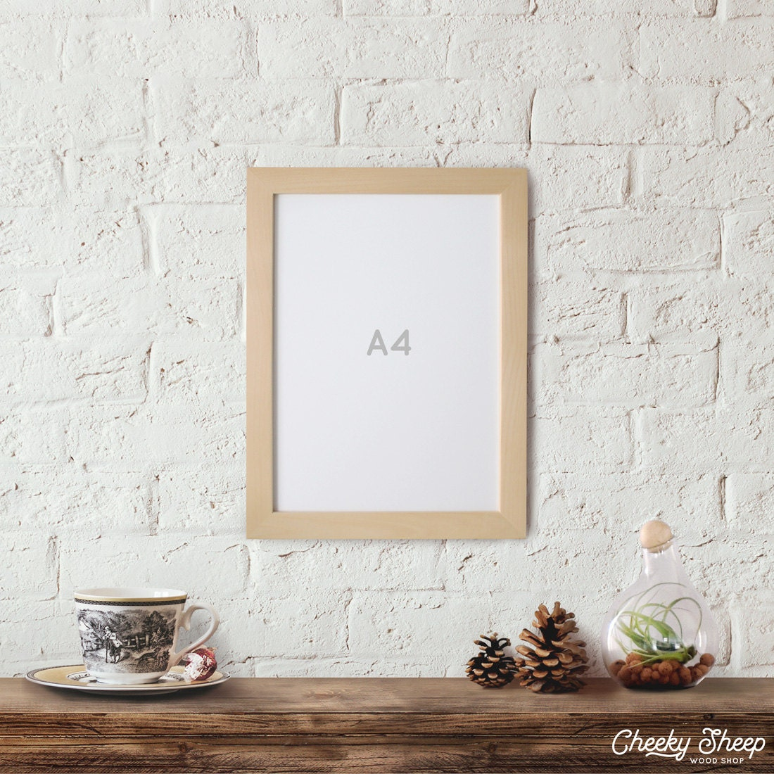 A4 Picture Frame 21 Cm X 29 7 Cm Natural Unfinished Wood