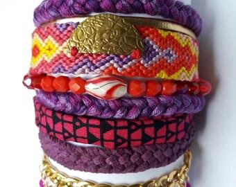 """Cuff bracelet """"Nazca"""" with magnetized clasp © CloEthniK"""