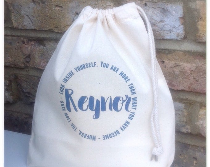 Personalised gift bags, thank you keepsake bag, tote bag. Bridesmaid, flower girl, maid of honour, thank you gift
