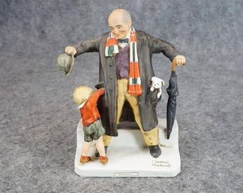 Dave Grossman Designs Norman Rockwell Figurine Big Moment C. 1975