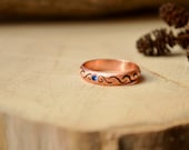 Mother's Day gift, Copper Bohogirl ring, engagement ring, Blue Zirconia Stone, bomemian women ring, Elf ring, Bohochic Ring, Divergent ring