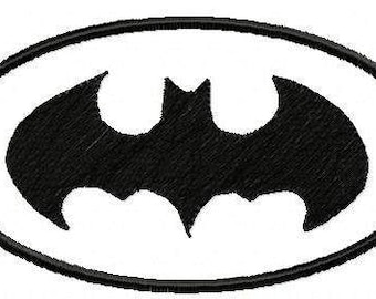 Machine Embroidery Design -Batman Logo Applique and Fill Stitch - Instant Download-3 Sizes