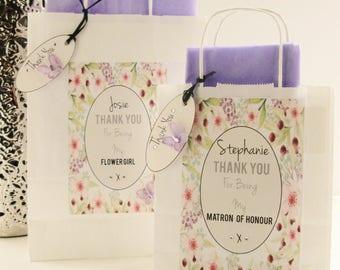 Personalised bridesmaid  gift bag - Spring Garden Design